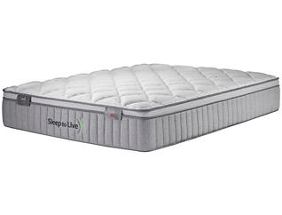 Sleep to Live Series 300 Blue/Blue Full Mattress, , large