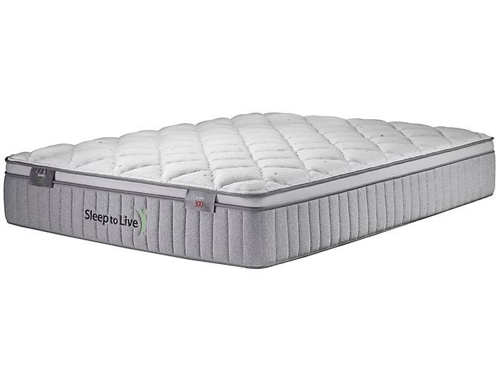 Sleep to Live Series 300 Green/Green California King Mattress, , large