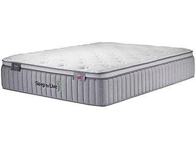 Sleep to Live Series 400 Tan/Tan Full Extra Long Mattress, , large