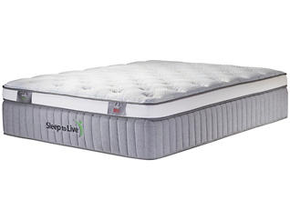 Sleep to Live Series 800 Tan/Tan Twin Mattress, , large