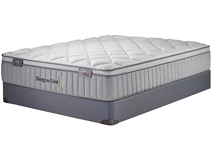 Sleep to Live Series 300 Green/Green Full XL Mattress Set, , large