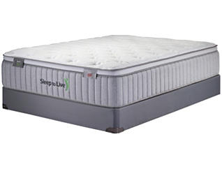 Sleep to Live Series 400 Tan/Red California King Mattress Set, , large