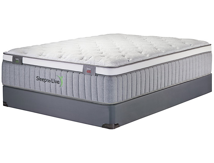 Sleep to Live Series 600 Green/Red King Mattress Set, , large