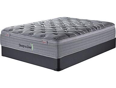 Sleep to Live Series 2.0 Full XL Low Profile Mattress Set, , large