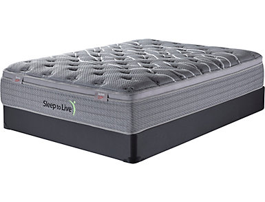 Sleep to Live Series 2.0 Twin Low Profile Mattress Set, , large