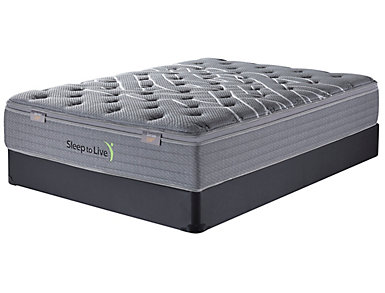 Sleep to Live Series 2.0 Full XL Low Profile Mattress Set, , large