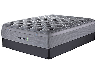 Sleep to Live Series 3.0 Full XL Blue/Blue Mattress Set, , large