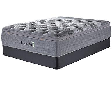 Sleep to Live Series 4.0 Tan/Tan California King Low Profile Mattress Set, , large