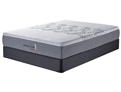 Sleep to Live Hybrid 1.0 Series Full Red/Red Low Profile Mattress Set, , large