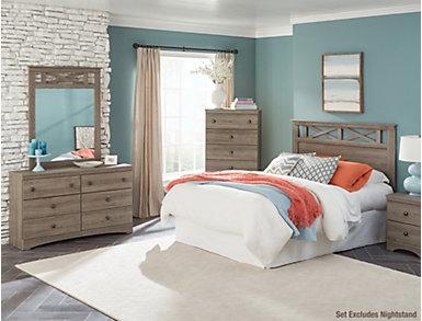 Mulberry Queen Bedroom Set, Grey, , large