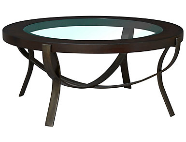 Onslow Round Coffee Table, Brown, , large