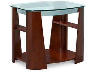 Christina Rectangular End Table, Brown, , large
