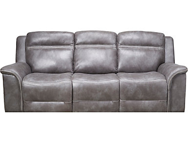 Huxley Dual Power Reclining Sofa, Grey, , large