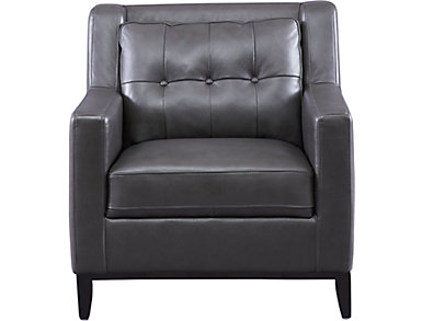 Grigio II Leather Chair, , large