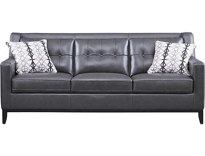 Grigio II Leather Sofa | Art Van Home
