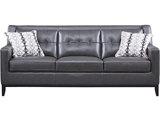 Grigio II Genuine Leather Sofa, Dark Grey, , large