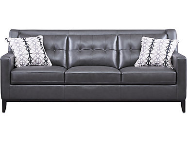 Grigio II Leather Sofa, , large