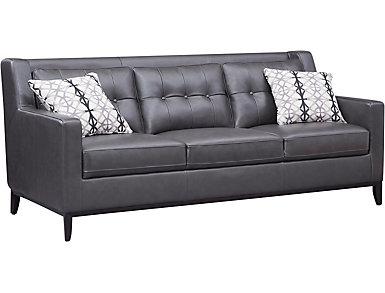Grigio II Leather Sofa, , large