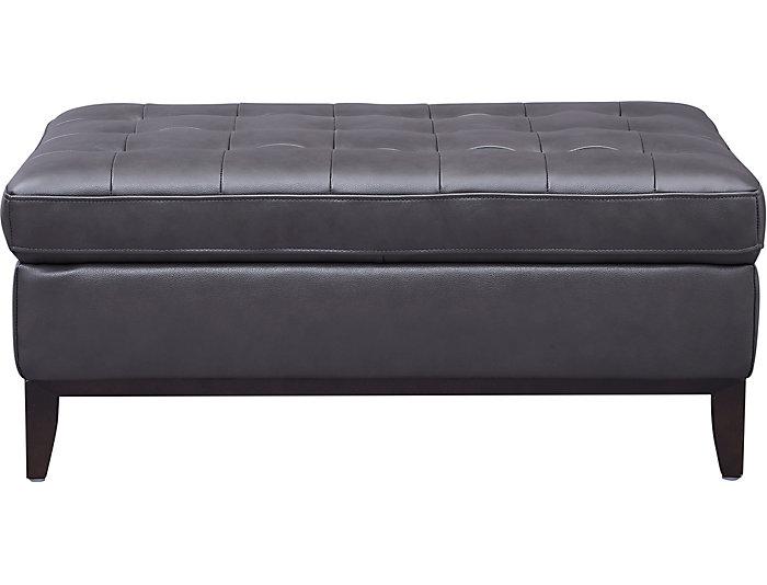 Fine Grigio Ii Grey Leather Cocktail Ottoman Cjindustries Chair Design For Home Cjindustriesco
