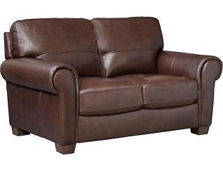 Dario III Leather Loveseat, , large