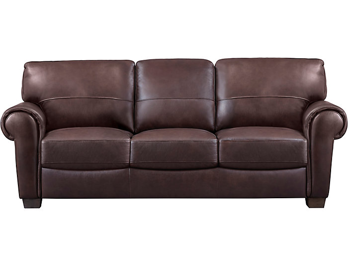 Dario Iii Full Leather Sleeper Sofa Large