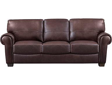 Dario III Full Leather Sleeper Sofa, , large
