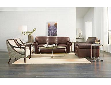 Dario III Full Leather Sleeper Sofa, , large