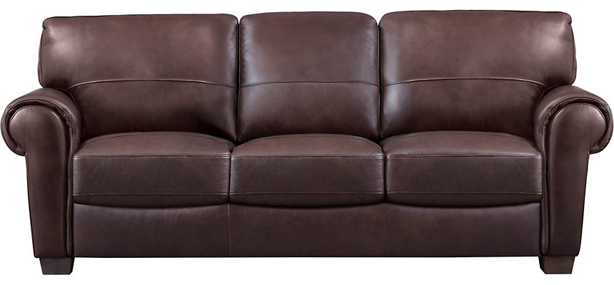 Dario III Brown Leather Sofa
