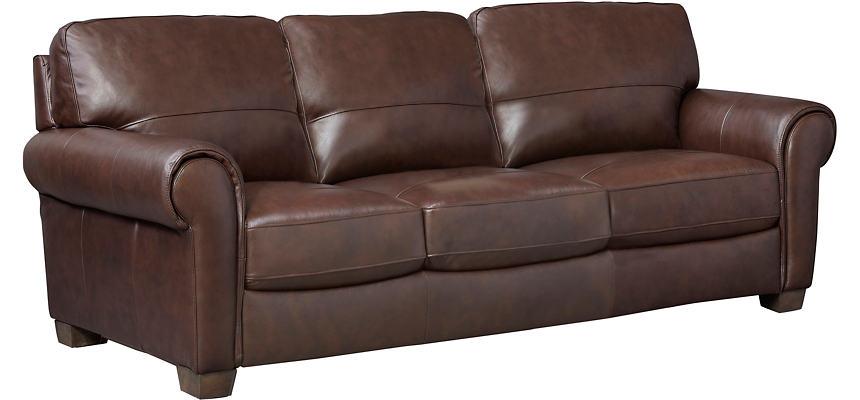 Dario III Brown Leather Sofa