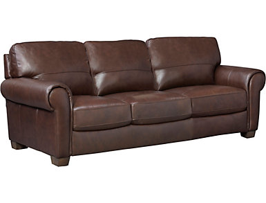 Dario III Leather Sofa, , large