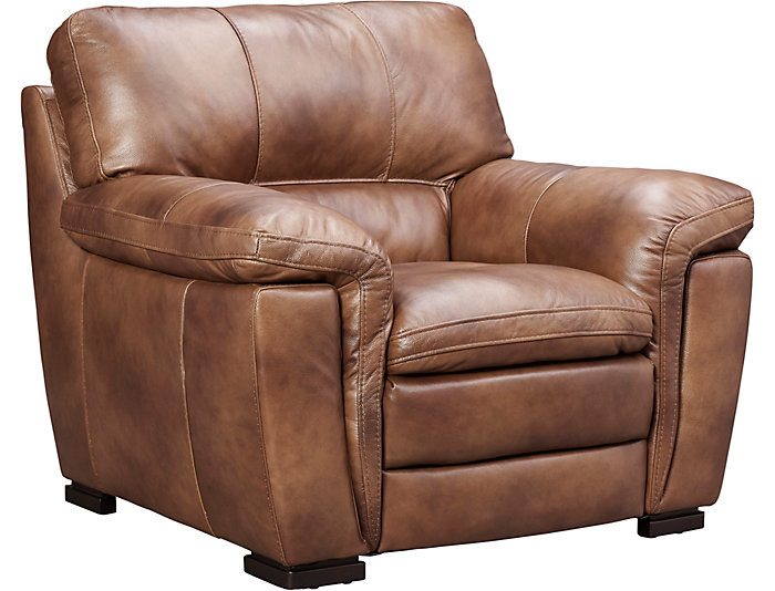 Max Genuine Leather Chair, Brown, , Large ...