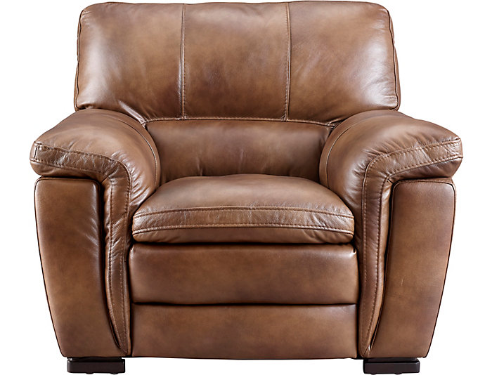 ... Max Genuine Leather Chair, Brown, , Large ...