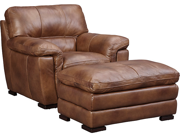 Merveilleux Max Genuine Leather Chair, Brown, , Large ...