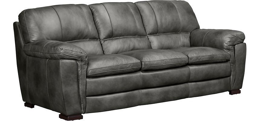 Max Dark Grey Leather Sofa