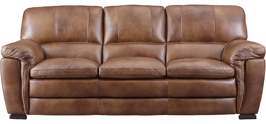 Max Brown Leather Sofa