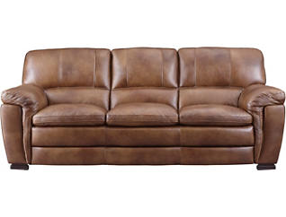 Genuine Leather Max Sofa, Brown, , large