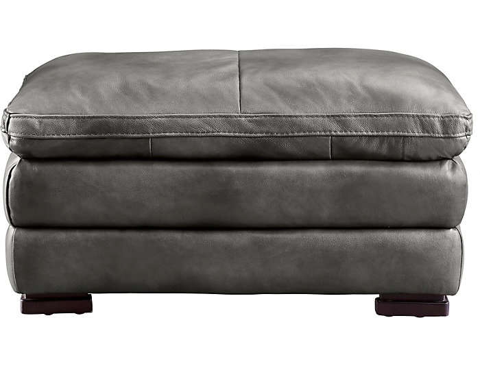 Incredible Max Dark Grey Leather Ottoman Art Van Home Dailytribune Chair Design For Home Dailytribuneorg