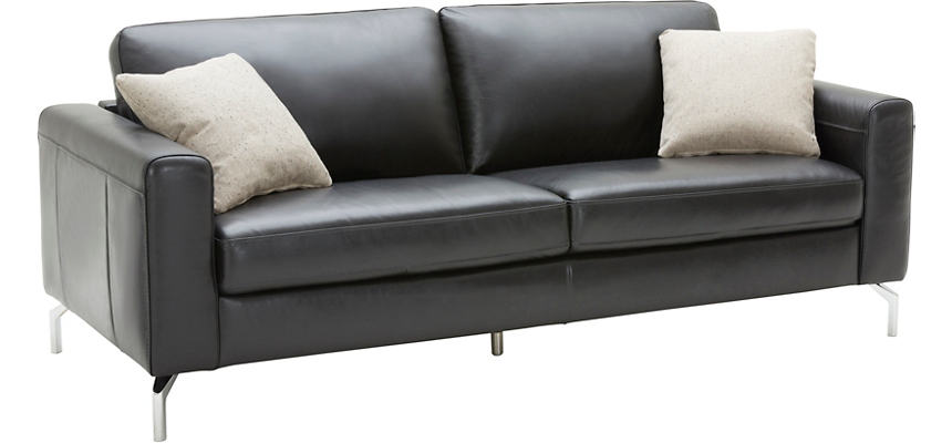 Matera Black Leather Sofa | Art Van Home