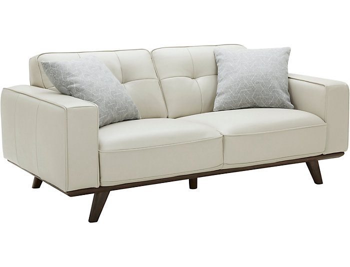 Turin Leather Loveseat, , large