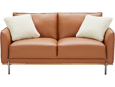 Sorrento Leather Loveseat, , large