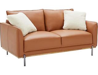 Sorrento Leather Loveseat, , large