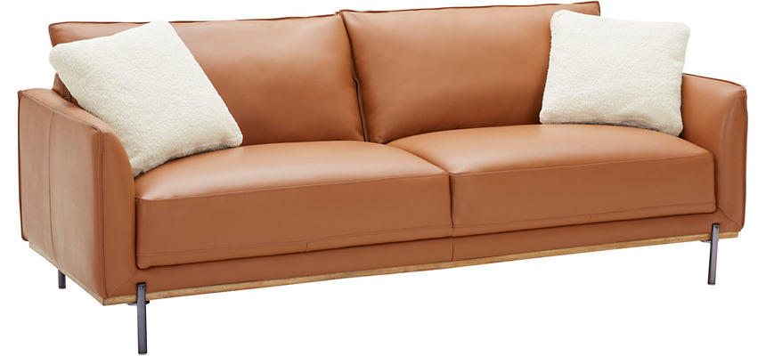 Sorrento Brown Leather Sofa
