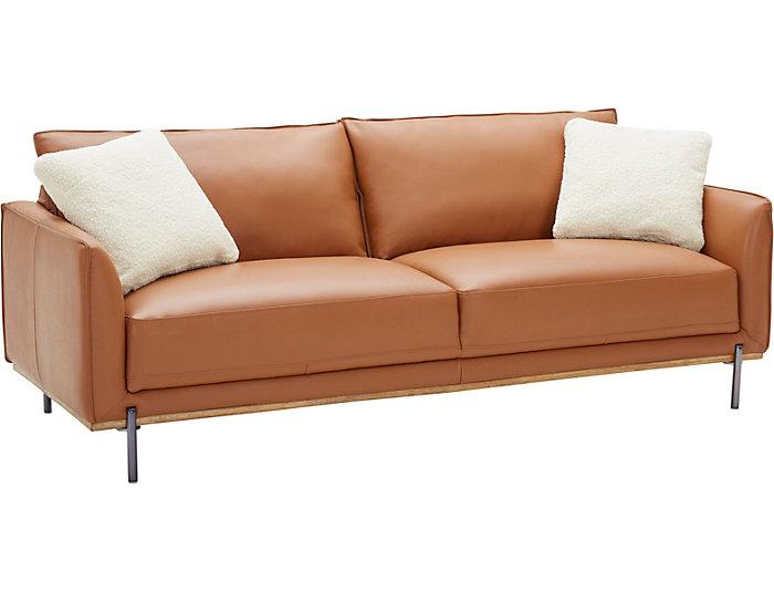 Sorrento Brown Leather Sofa