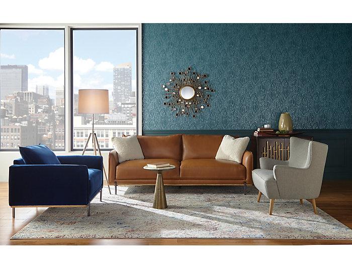 Soro Brown Leather Sofa