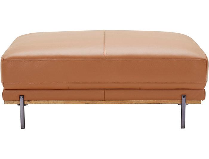 Fine Sorrento Brown Leather Ottoman Inzonedesignstudio Interior Chair Design Inzonedesignstudiocom
