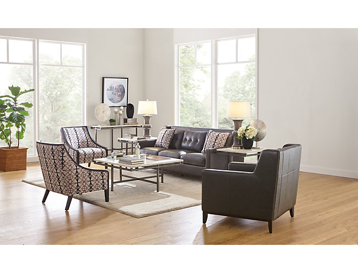 Magnificent Grigio Ii Grey Accent Chair Gmtry Best Dining Table And Chair Ideas Images Gmtryco