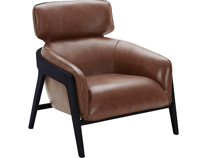 Venosa Leather Accent Chair Art Van Home