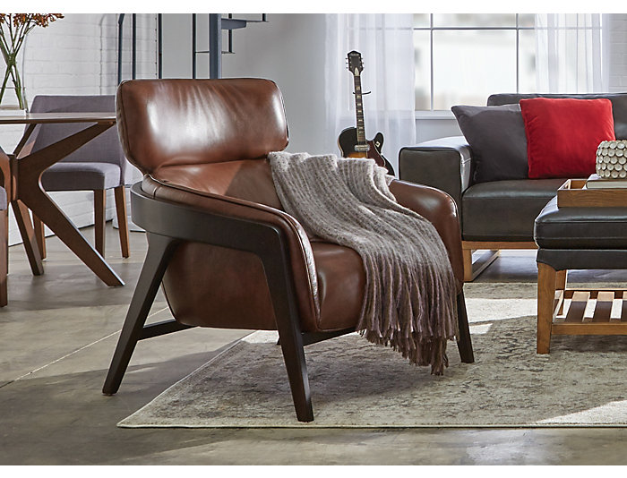 Venosa Leather Accent Chair