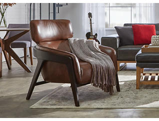 Venosa Leather Accent Chair, , large