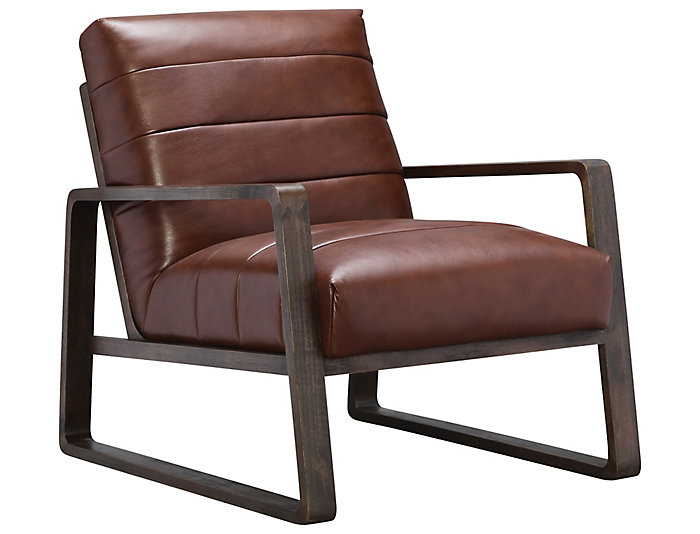 Magnificent Roma Genuine Leather Aldo Accent Chair Art Van Home Machost Co Dining Chair Design Ideas Machostcouk